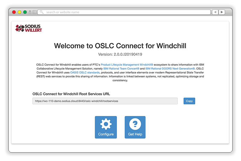Linking ALM assets and PLM platform with OSLC Connect for Windchill.