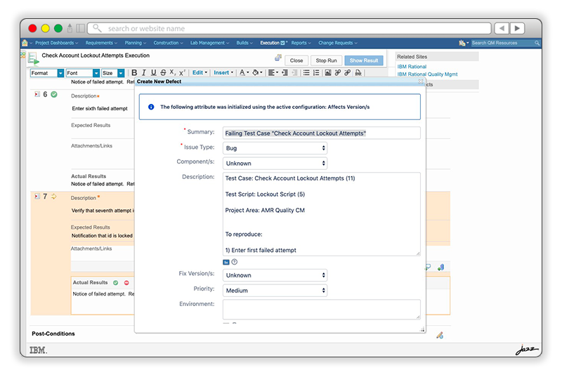 Integration of the IBM solution inside Jira to use as a native Change Management provider.