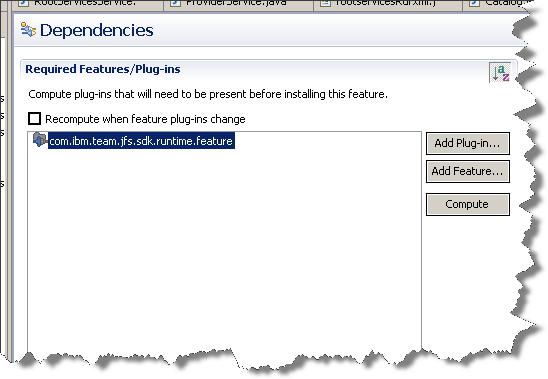 Feature dependencies