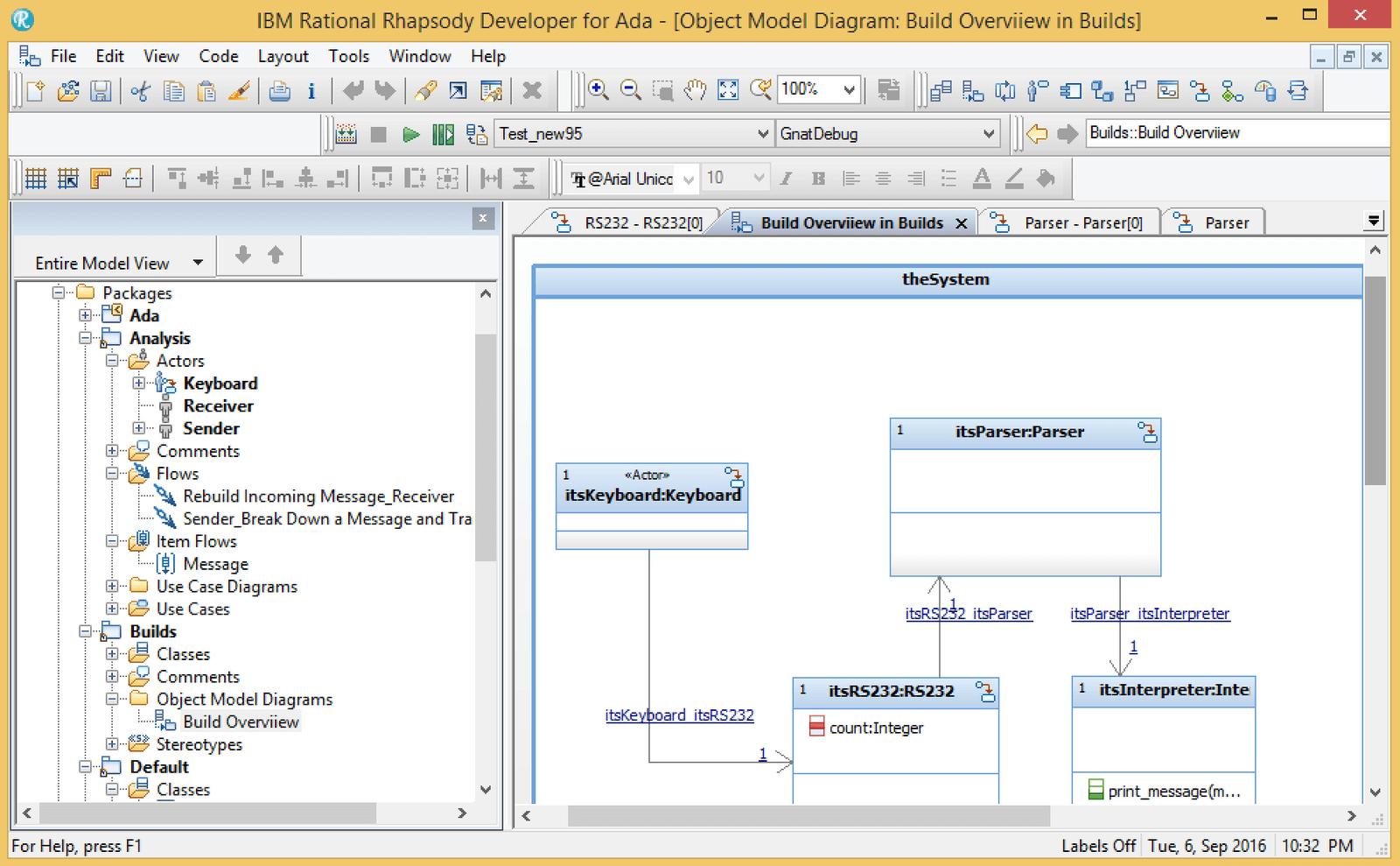 Rhapsody in Ada Model Rendering Platform and Formal Process Review
